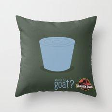 Jurassic Park  ¿Where's the goat? Throw Pillow