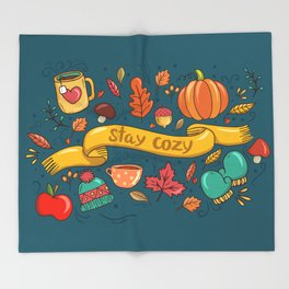 Autumn Is The Time To Stay Cozy Throw Blanket