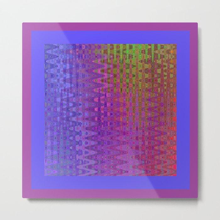 Rainbow Rectangles Metal Print