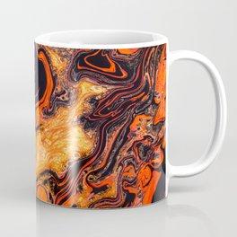 magic orange red golden lava beautiful marble effect magie orange rouge couleur dorée effet marbre Coffee Mug