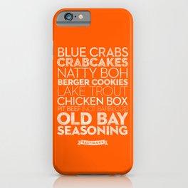Baltimore — Delicious City Prints iPhone Case