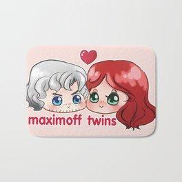 cute twins Bath Mat