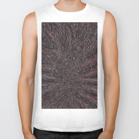 Abstract - Raven Flow. Biker Tank