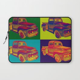 Colorful 1951 Ford F-1 Pickup Truck Pop Art  Laptop Sleeve