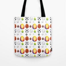 Easter sport balls Tote Bag