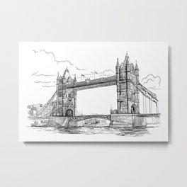 Sketch from London 08 Metal Print