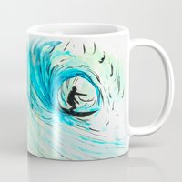 surfer Mugs featuring Surfer by Bruce Stanfield