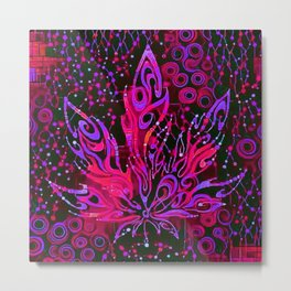 Cannabis Leaf Abstract 1c Metal Print