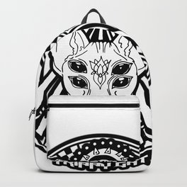 trippy cat - witchy craft - witch illustation sticker Backpack