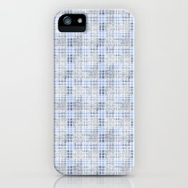 Classical blue with a gray cell. iPhone Case