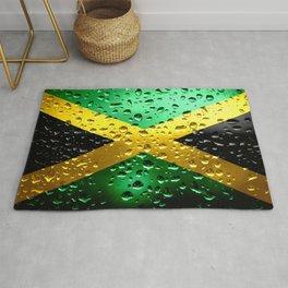 Flag of Jamaica - Raindrops Rug
