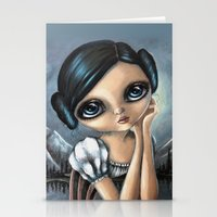 princess leia Stationery Cards featuring Leia by ZELYSS