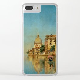 Venice the Golden Painting by George Vivian Clear iPhone Case