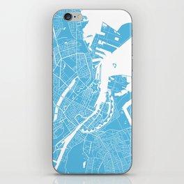 Copenhagen map blue iPhone Skin