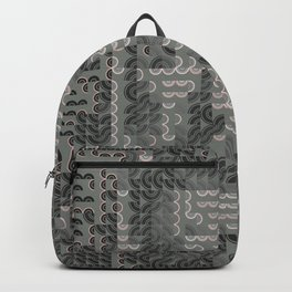 Hedgehog geometric pattern portrait of Ernest Hemingway Backpack