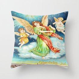 Vintage Christmas Angels 1913 Throw Pillow