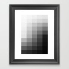 Fifty Shades of Gradient Framed Art Print