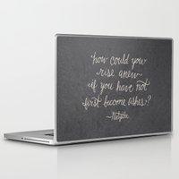 nietzsche Laptop & iPad Skins featuring Nietzsche on Rising Anew by Josh LaFayette
