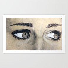 Charcoal drawing Art Print