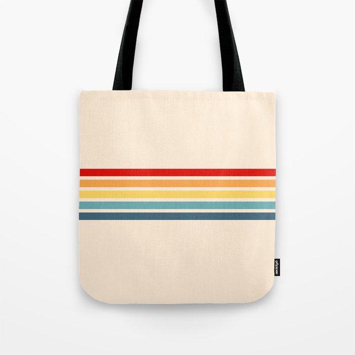 Takaakira - Classic Rainbow Retro Stripes Tote Bag