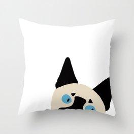 Peeking Siamese Throw Pillow
