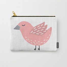 Pink Bird Carry-All Pouch