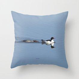 Mergansers on the Kenai Throw Pillow