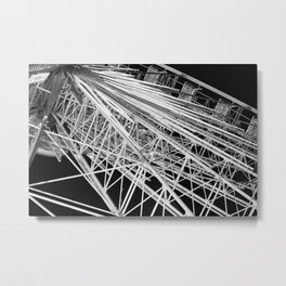 Black and White Neon Lights- 6 of 8 Metal Print