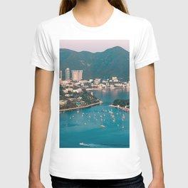 city coast buildings port hong kong T-shirt