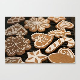 Holiday Iced Cookies Canvas Print