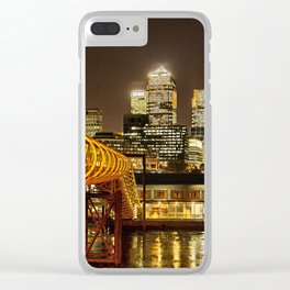 London, Piers of Docklands Hilton Clear iPhone Case