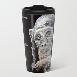 a Jane Goodall quote - black Travel Mug