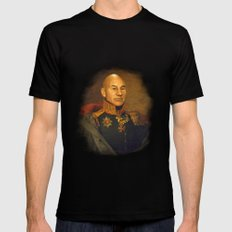 Sir Patrick Stewart - replaceface Black LARGE Mens Fitted Tee