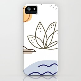 Modern Vector Floral Pattern Background.No.13 iPhone Case