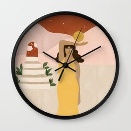 Stairway to Unknown Wall Clock