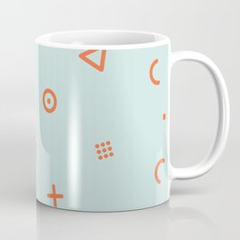 Happy Particles - Light Green Coffee Mug
