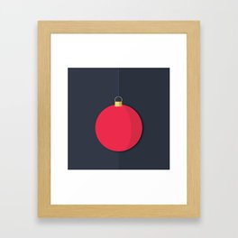 Christmas Globe - Illustration Framed Art Print