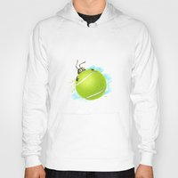 tennis Hoodies featuring Tennis bug by Migar
