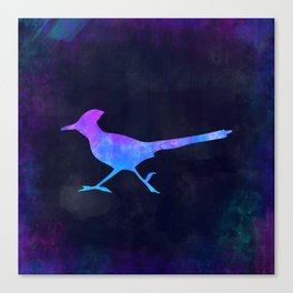 ROADRUNNER IN SPACE // Animal Graphic Art // Watercolor Canvas Painting // Modern Minimal Cute Canvas Print