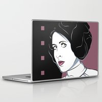 princess leia Laptop & iPad Skins featuring Princess Leia Pop Art by Patrick Scullin