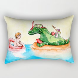 Croco Bath Rectangular Pillow