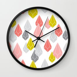Raining Gems - Enchanted Wall Clock