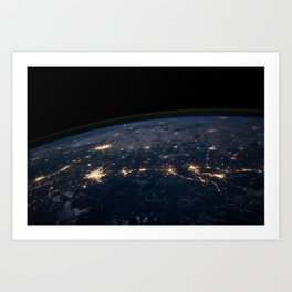 Glittering World Art Print