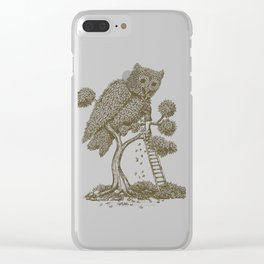 The Night Gardener (Colour Option) Clear iPhone Case