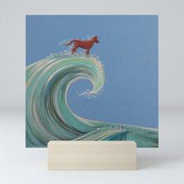 Surfing Kelpie Mini Art Print