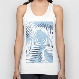 Tropical bliss - chambray blue Unisex Tank Top