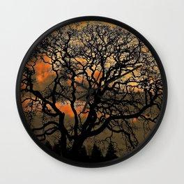 Altered Oak 3 Wall Clock