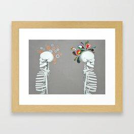Right Brain // Left Brain Framed Art Print
