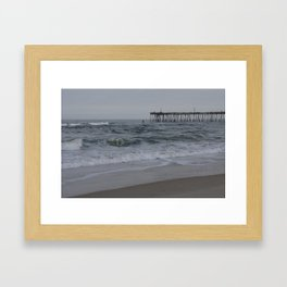 Overcast Day at Nag's Head Framed Art Print