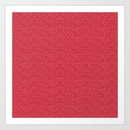 Red dice pattern Art Print